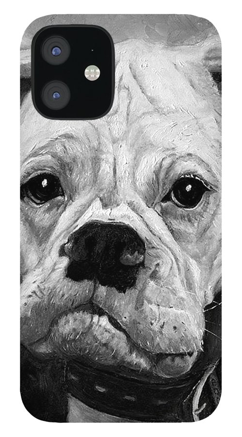 Boxer IPhone 12 Case featuring the painting Boo the Boxer by Portraits By NC