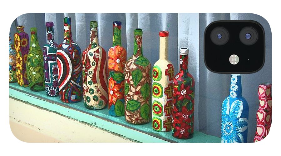 Bottles IPhone 12 Case featuring the photograph Bottled Up by Debbi Granruth