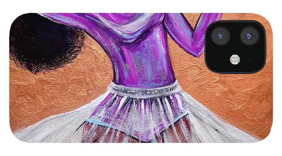 Ballerina IPhone 12 Case featuring the painting Breathtaking moments by Artist RiA