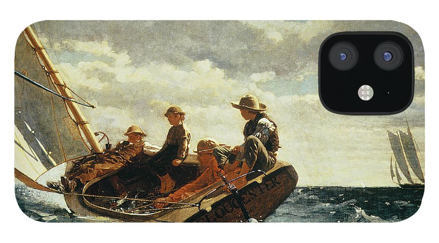 Breezing Up IPhone 12 Case featuring the painting Breezing Up by Winslow Homer