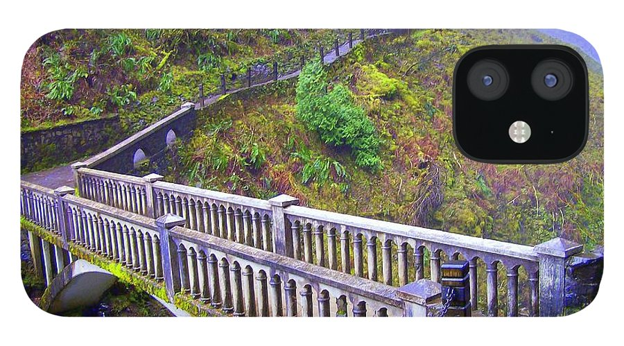Bridge IPhone 12 Case featuring the photograph Bridge at Multnomah Falls by Lisa Rose Musselwhite