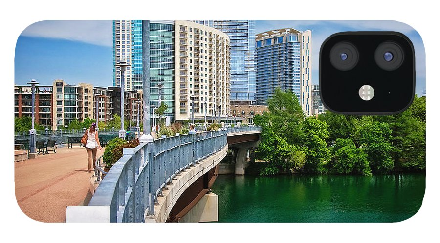 Austin IPhone 12 Case featuring the photograph Bridge With A View by Zayne Diamond Photographic