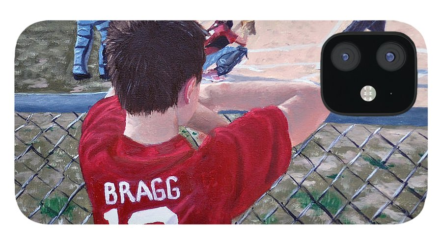 Child iPhone 12 Case featuring the painting Brock by Stan Hamilton