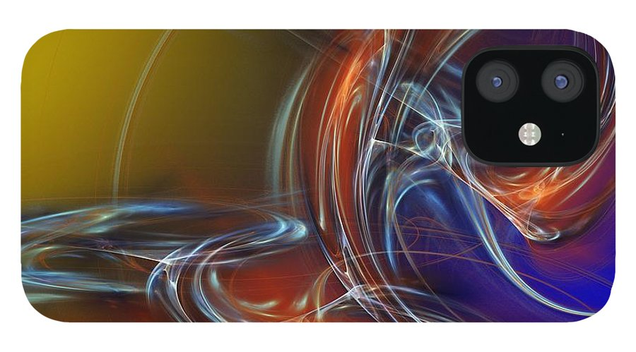 Fine Art IPhone 12 Case featuring the digital art Buddhist Protest by David Lane