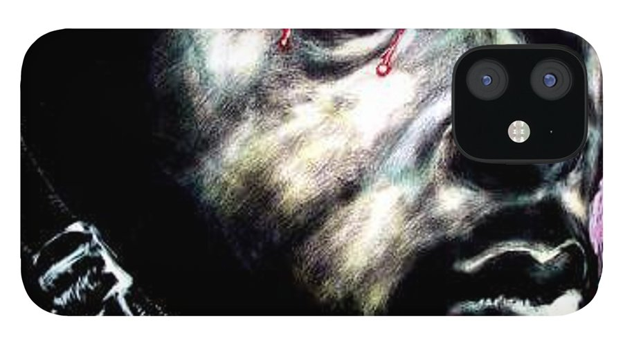 Soccial Commentary IPhone 12 Case featuring the mixed media Buffaloed by Chester Elmore