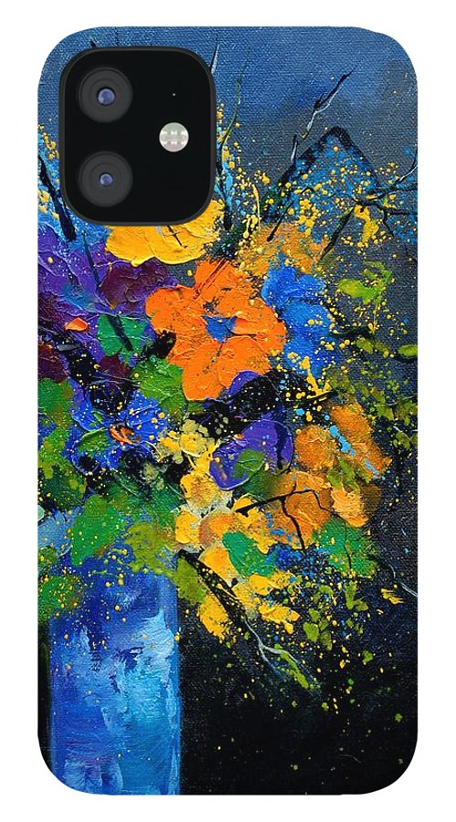 Poppies IPhone 12 Case featuring the painting Bunch 1007 by Pol Ledent