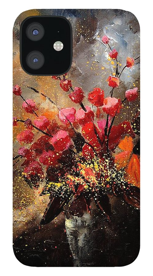 Poppies IPhone 12 Case featuring the painting Bunch 1207 by Pol Ledent
