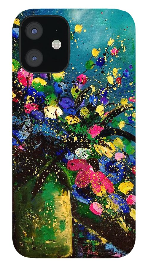 Poppies iPhone 12 Case featuring the painting Bunch 45 by Pol Ledent