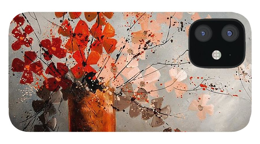 Flowers IPhone 12 Case featuring the painting Bunch 670908 by Pol Ledent
