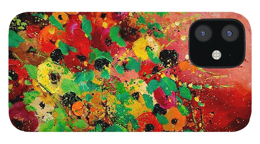 Flowers IPhone 12 Case featuring the painting Bunch of flowers 0507 by Pol Ledent