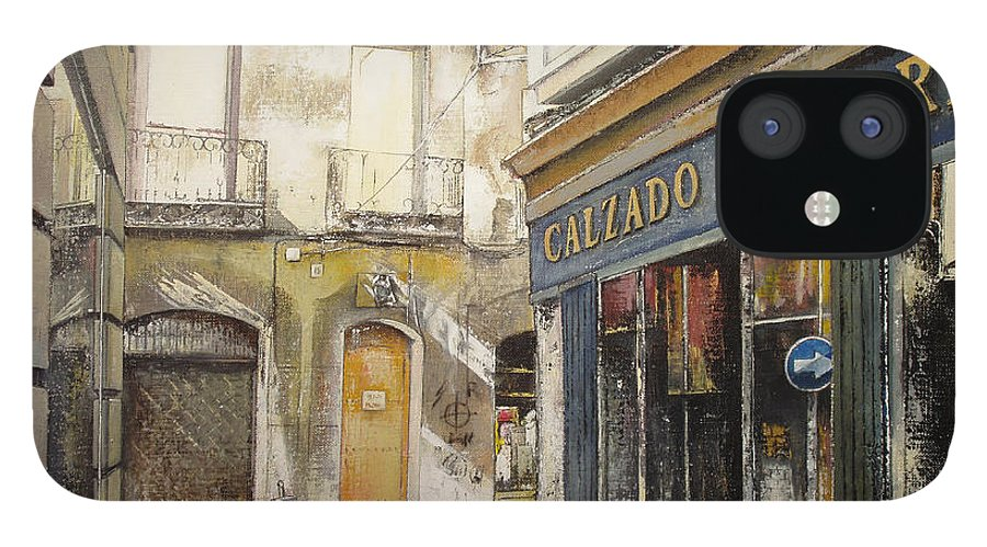 Calzados IPhone 12 Case featuring the painting Calzados Victoria-leon by Tomas Castano