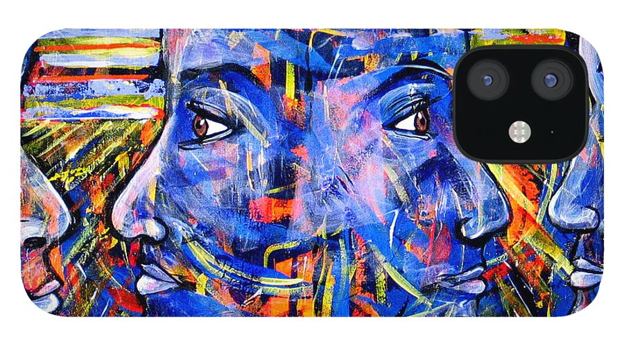 Confrontation IPhone 12 Case featuring the painting Can Not Live A Lie by Rollin Kocsis