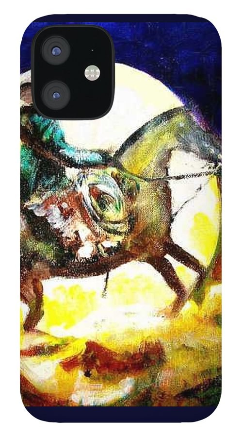 Canyon Moon IPhone 12 Case featuring the painting Canyon Moon by Seth Weaver