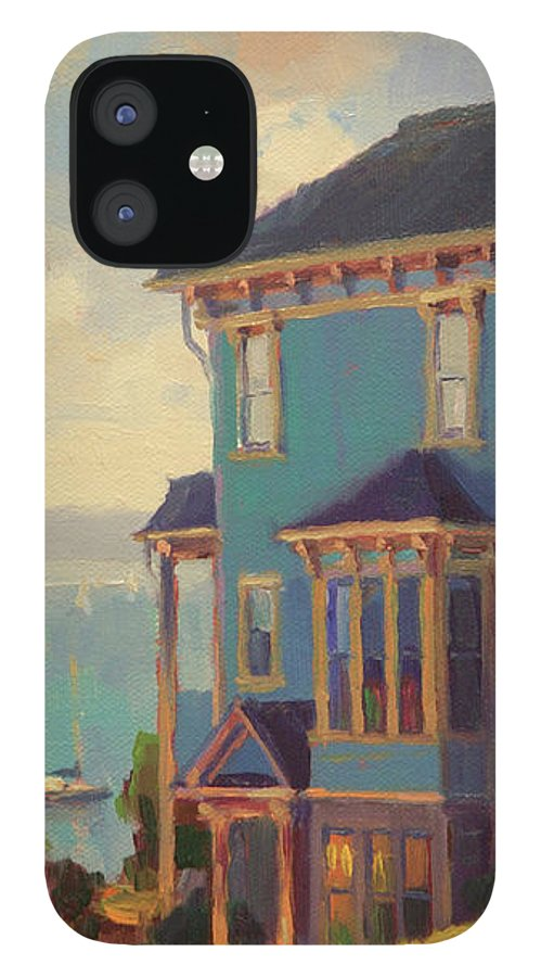 Coast IPhone 12 Case featuring the painting Captain's House by Steve Henderson