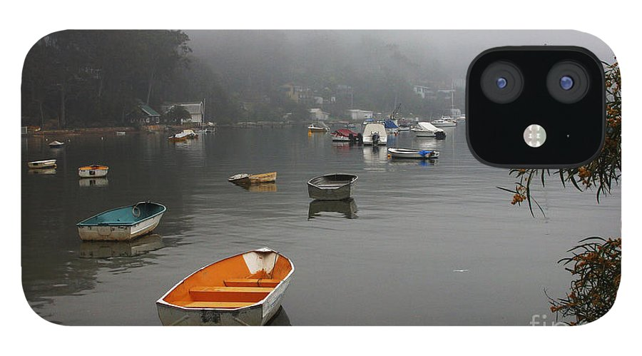 Mist IPhone 12 Case featuring the photograph Careel Bay mist by Sheila Smart Fine Art Photography
