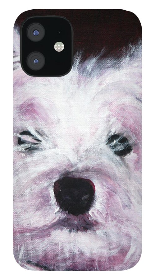 Dog IPhone 12 Case featuring the painting Cassie by Fiona Jack