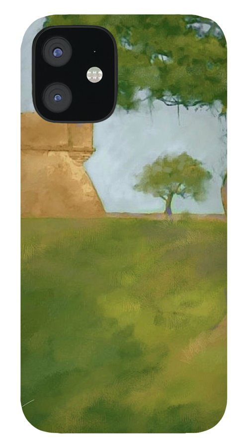 Castillo Tree Fort St. Augustine Florida Landscape Tree Spanish IPhone 12 Case featuring the digital art Castillo Tree by Scott Waters