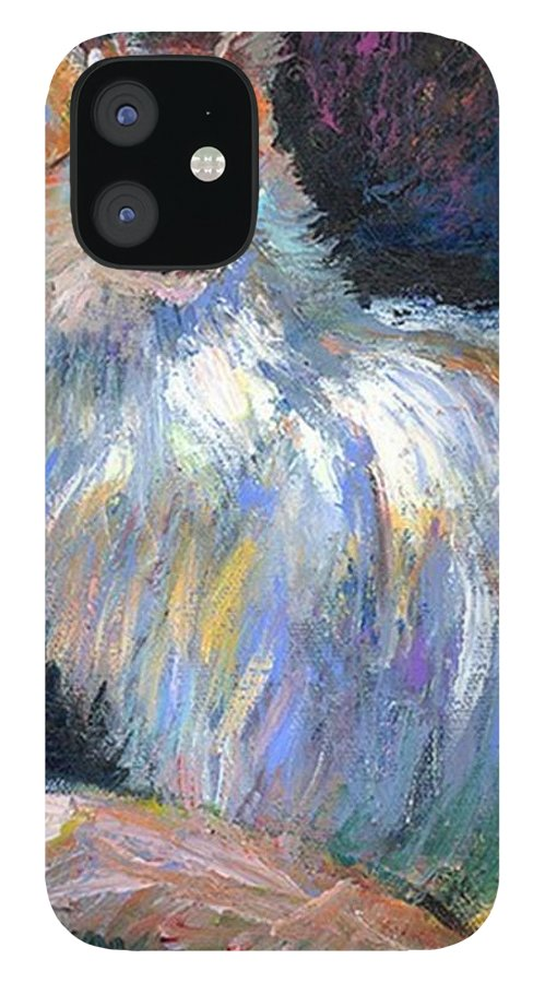 Art IPhone 12 Case featuring the photograph Cat In A Sun Painting By Svetlana by Svetlana Novikova