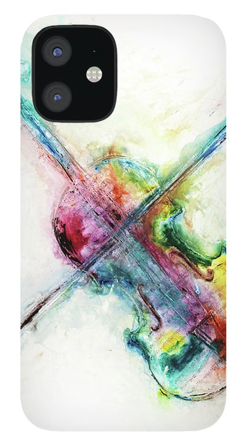 Music IPhone 12 Case featuring the mixed media Cavatine by Ivan Guaderrama