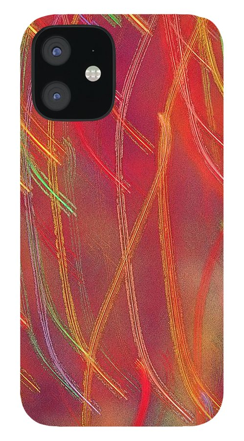 Abstract IPhone 12 Case featuring the photograph Celebration by Gaby Swanson