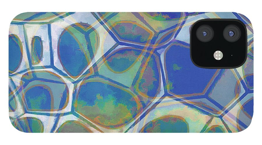 Painting IPhone 12 Case featuring the painting Cell Abstract 13 by Edward Fielding