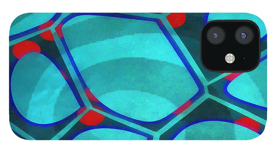 Painting IPhone 12 Case featuring the painting Cell Abstract 6a by Edward Fielding