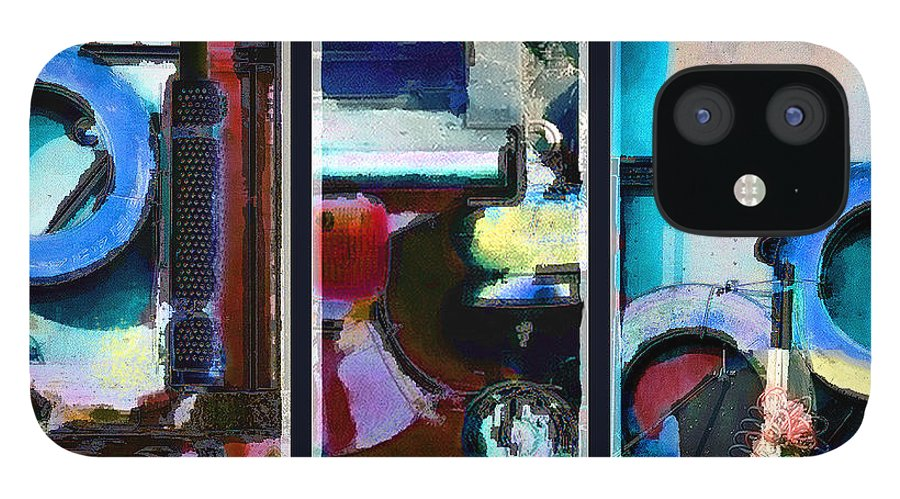 Abstract IPhone 12 Case featuring the digital art Centrifuge by Steve Karol