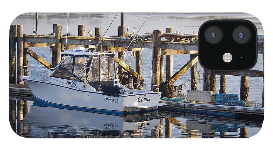 Boat IPhone 12 Case featuring the photograph Chaos near Bodega Bay by Suzanne Gaff