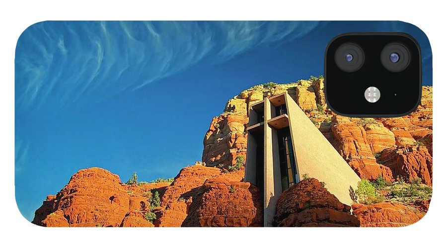 Chapel Of The Holy Cross IPhone 12 Case featuring the photograph Chapel of the Holy Cross, Sedona, Arizona by Zayne Diamond Photographic
