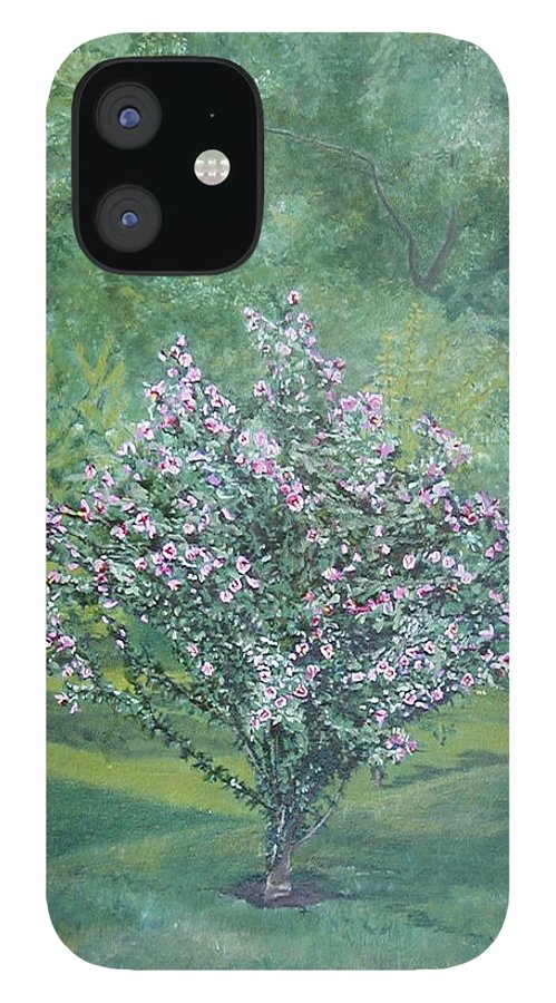 Blooming IPhone 12 Case featuring the painting Charles Street by Leah Tomaino