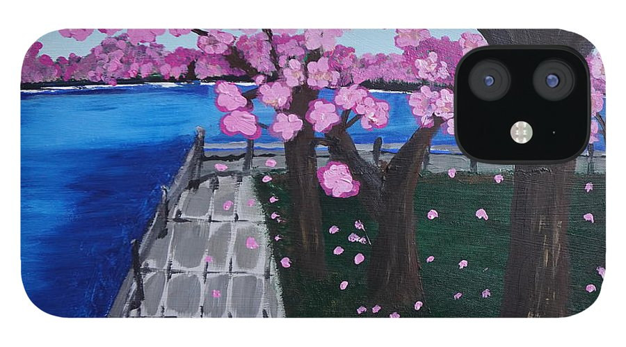 Cherry Blossom IPhone 12 Case featuring the painting Cherry Blossoms by Jimmy Clark
