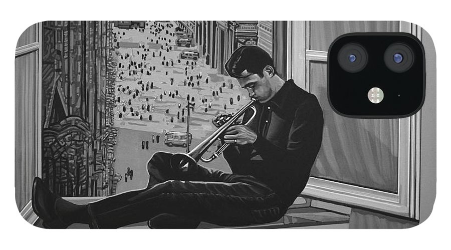 Chet Baker IPhone 12 Case featuring the painting Chet Baker by Paul Meijering