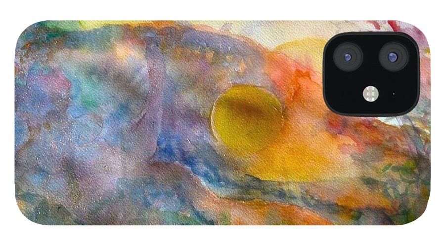 Watercolor IPhone 12 Case featuring the painting Union by Phoenix Simpson