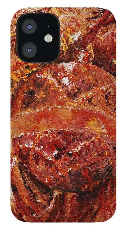 Christmas IPhone 12 Case featuring the painting Christmas Glitter by Nadine Rippelmeyer