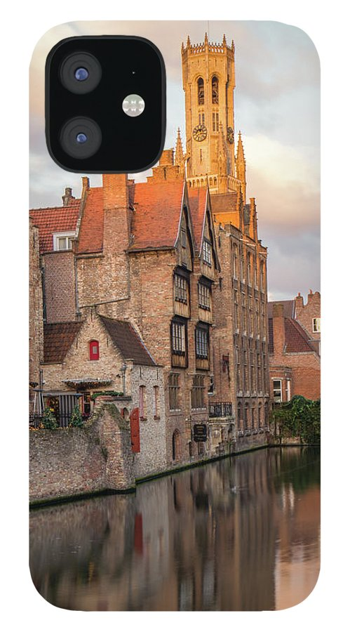 Rozenhoedkaai IPhone 12 Case featuring the photograph Classic Bruges by Dalibor Hanzal