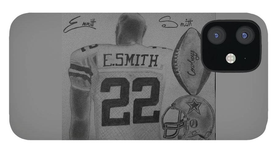 Emmit iPhone 12 Case featuring the painting Classic Football by Love Reyes