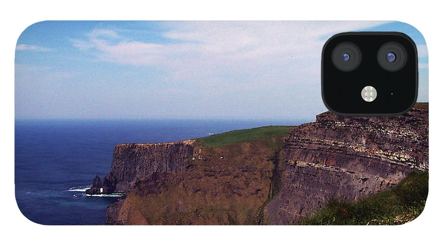 Irish iPhone 12 Case featuring the photograph Cliffs of Moher Aill Na Searrach Ireland by Teresa Mucha