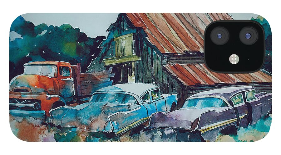 Ford Cabover IPhone 12 Case featuring the painting Cluster of Restorables by Ron Morrison