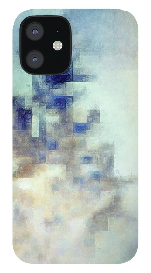 Abstract iPhone 12 Case featuring the digital art Cold by Scott Norris