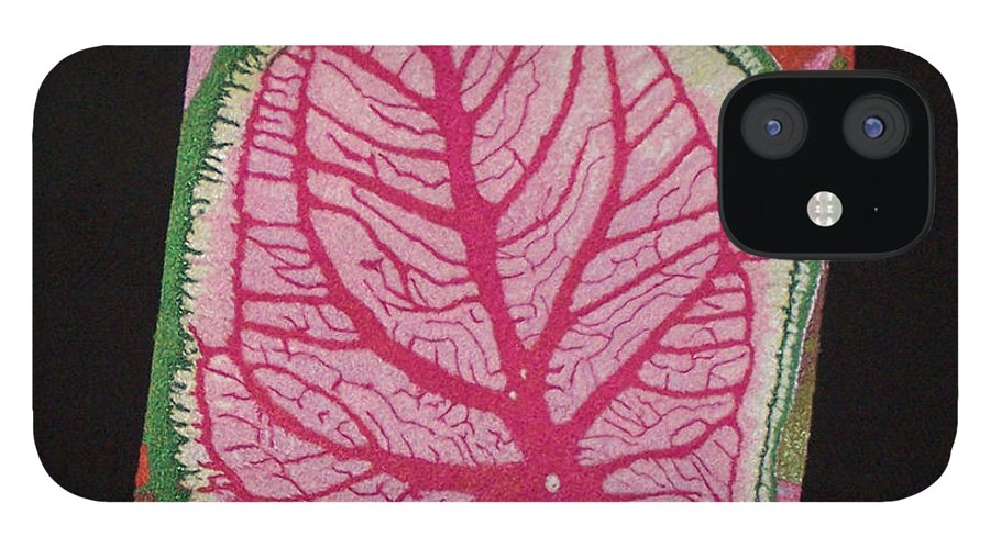 Nature IPhone 12 Case featuring the mixed media Coleus by Jenny Williams