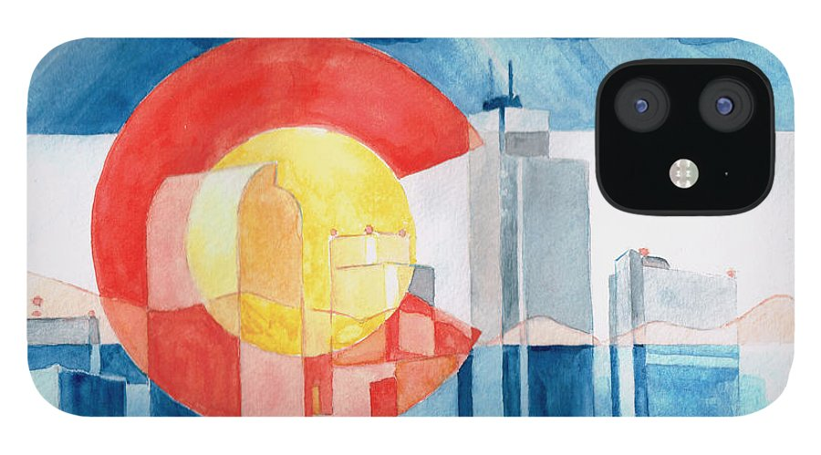 Colorado iPhone 12 Case featuring the painting Colorado Flag by Andrew Gillette