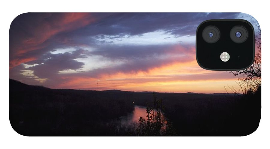 Blue Sunset IPhone 12 Case featuring the photograph Colorful Sunset by Toni Berry