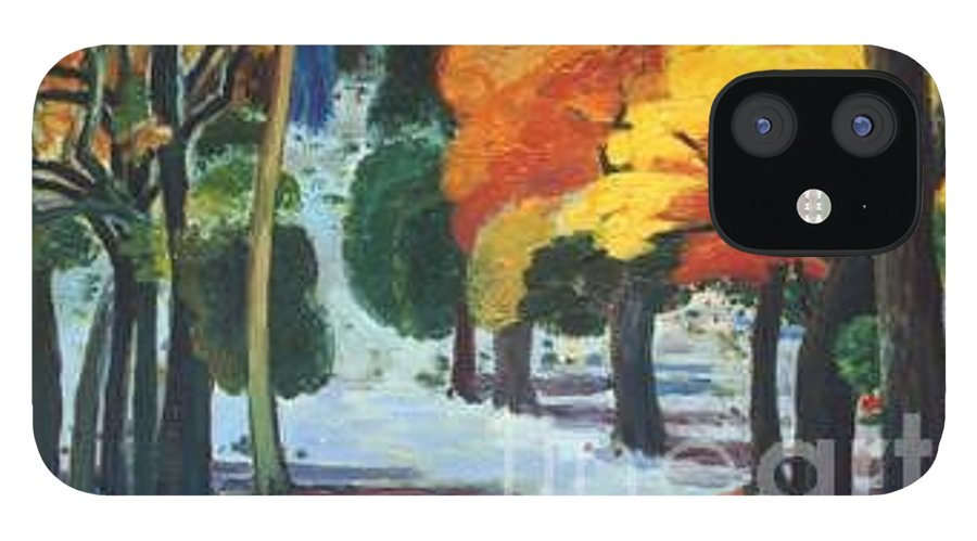 Colors IPhone 12 Case featuring the painting Colors Of Fall by Meihua Lu
