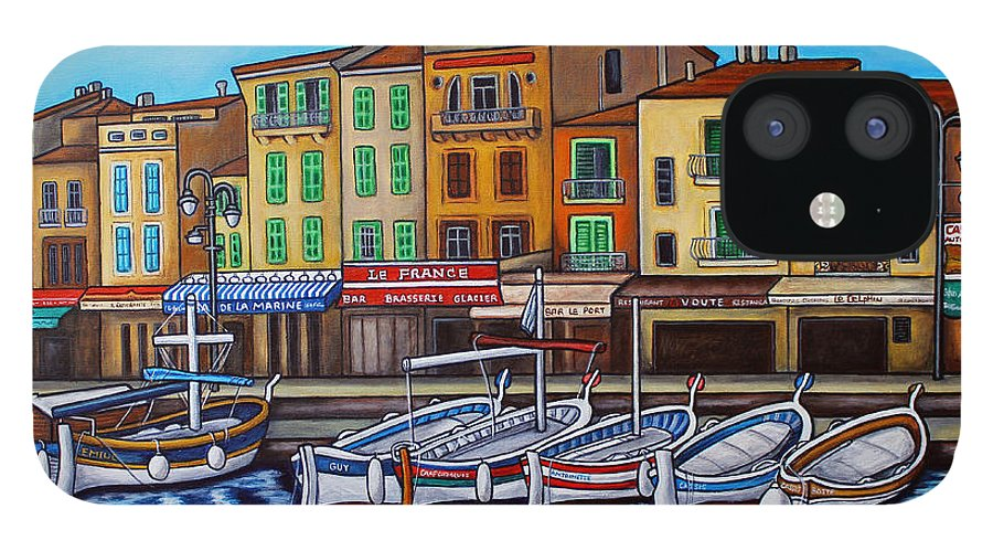 Cassis IPhone 12 Case featuring the painting Colours of Cassis by Lisa Lorenz