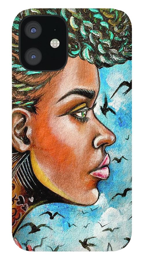 Ria IPhone 12 Case featuring the painting Crowned Royal by Artist RiA