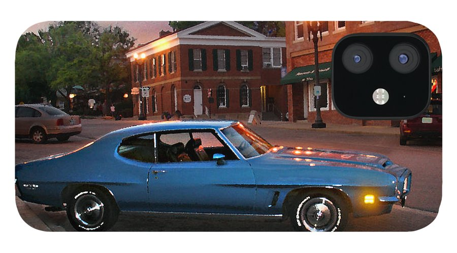 Landcape iPhone 12 Case featuring the photograph Cruise Night in Liberty by Steve Karol