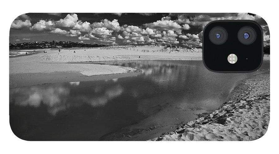 Beach iPhone 12 Case featuring the photograph Curl Curl Beach with dramatic sky by Sheila Smart Fine Art Photography