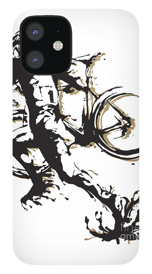 Cyclocross IPhone 12 Case featuring the painting Cyclocross Poster1 by Sassan Filsoof
