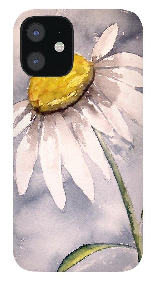 Daisy IPhone 12 Case featuring the painting Daisy Modern poster print fine art by Derek Mccrea