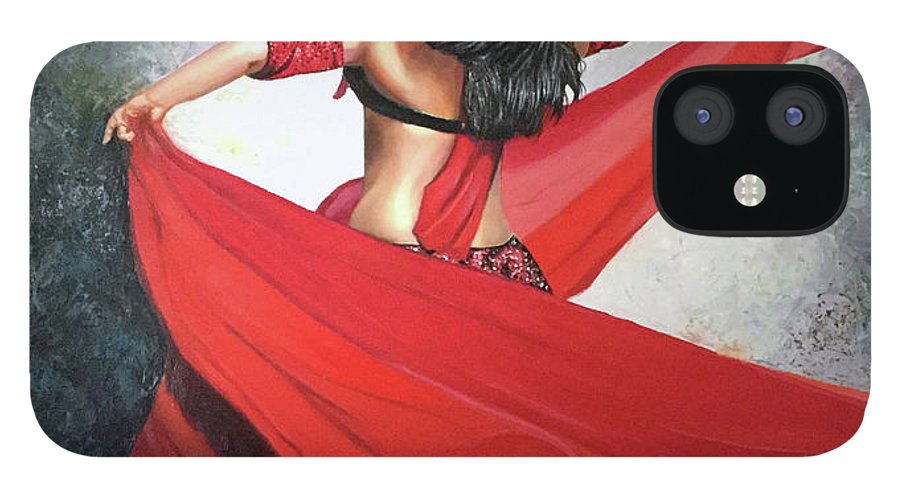 Belly Dancing IPhone 12 Case featuring the painting Dancing Lady by Jose Manuel Abraham